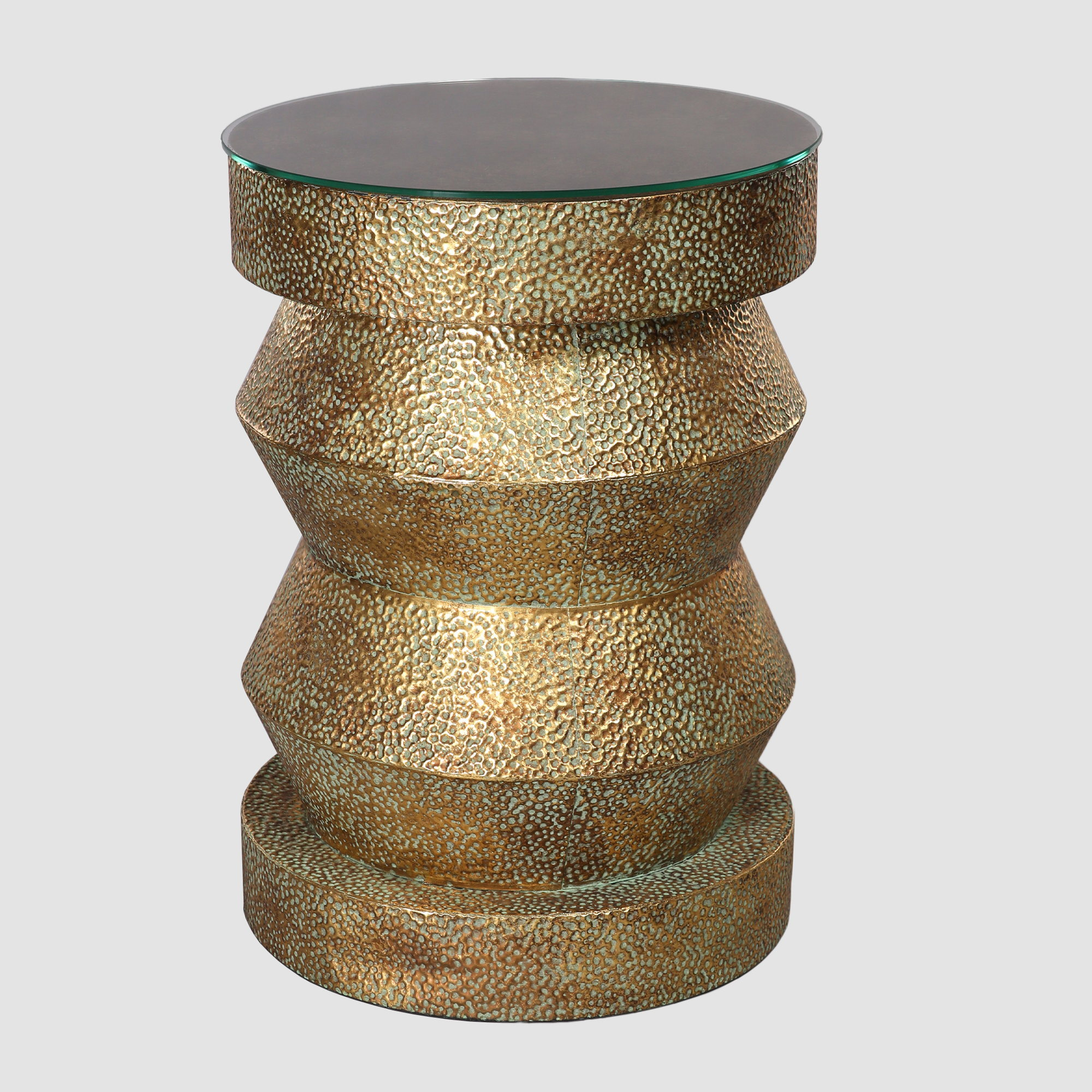 Picture of: Aged Gold Metal Pedestal Table Town Country Event Rentals