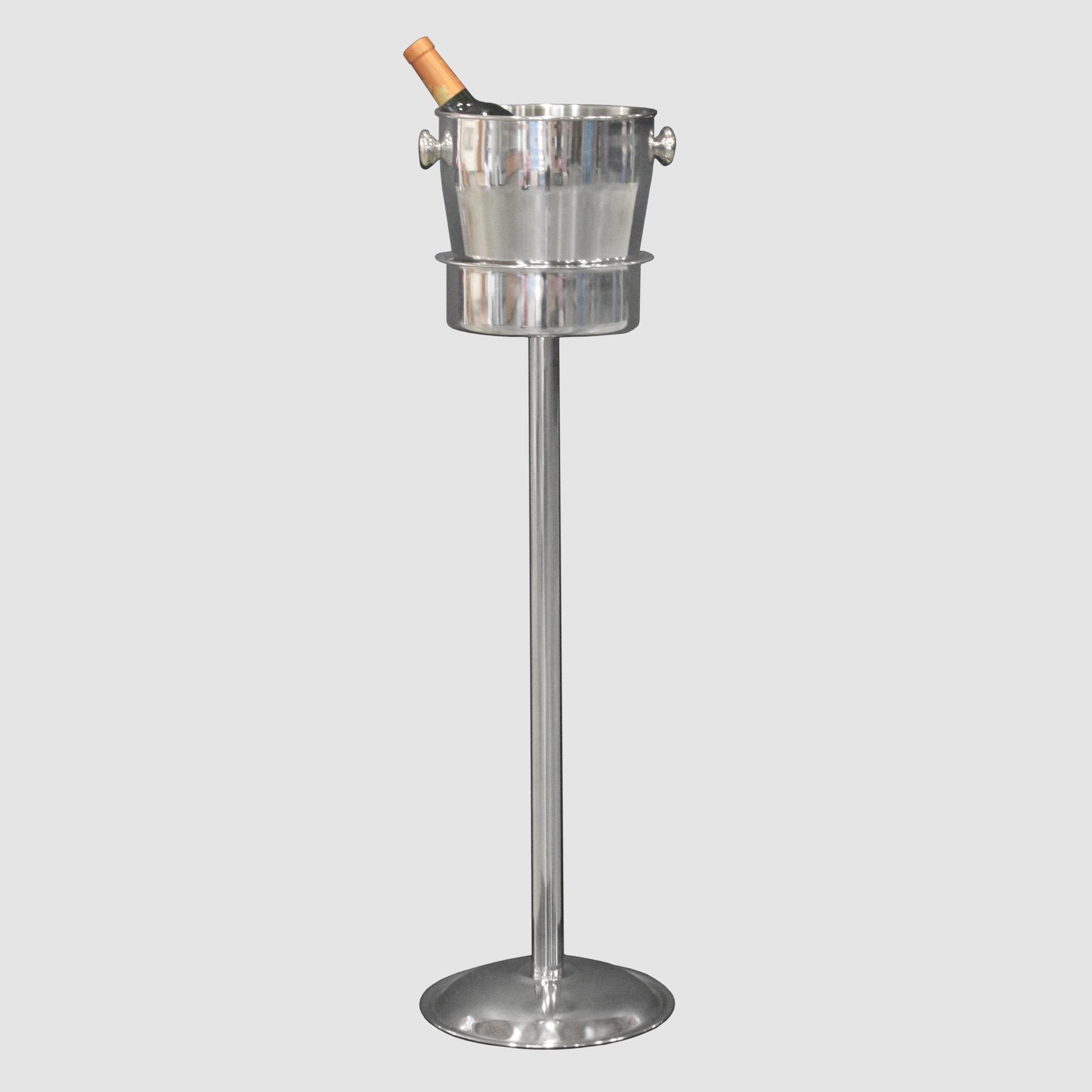 Stainless Steel Champagne Bucket Stand Town Country Event Rentals